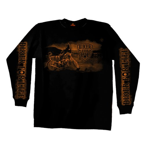 Hot Leathers Coolin' Long Sleeve T-Shirt (Black, ()