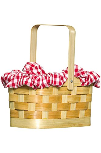 Rasta Imposta Gingham Basket, Red, One (Little Red Riding Hood Basket)