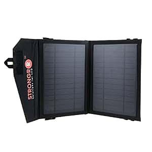LB1alto rendimiento 7W cargador solar plegable W/monocristalino, paneles de alta eficiencia Dual USB Puerto–1Ultra rápida USB de carga (2.1A) para Toshiba Excite 7.7