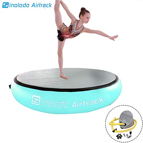 AirTrack AirSpot – Gymnastics Training Springboard – Round Inflatable Springboard