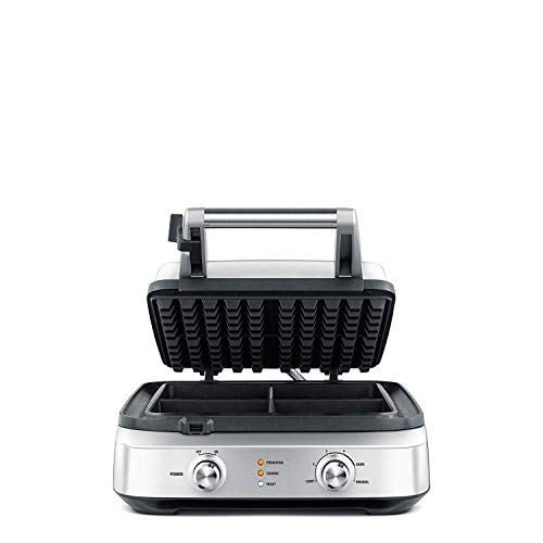 Breville the Smart Waffle 4-Slice No Mess Electric Waffle Maker w/Browning Control - BWM604BSSUSC by Breville (Image #1)