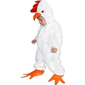 Charades Child's Baby Chick Costume Jumpsuit, White