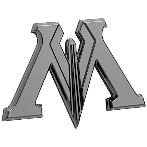 Fan Emblems Harry Potter Car Emblem, Black Chrome Ministry of Magic 3D Automotive Decal Sticker Badge, Flexes to Fully Adhere to Most Smooth Surfaces]()
