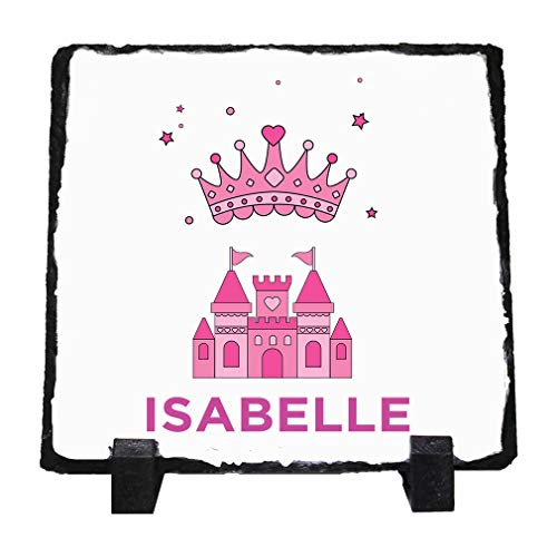 Personalized Custom Text Pink Princess Stone Slate Plaque Picture - Personalized Princess Plaque