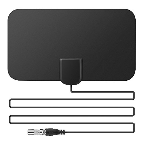MINI Digital TV Antenna, SOONHUA TV Fox Antenna Indoor Amplified HDTV Antenna 50 Miles Range, 13 FT Copper Coaxial Cable for 1080p ClearView (Best Value Freeview Recorder)