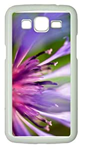 case DIYpurple pink flower macro PC White case/cover for Samsung Galaxy Grand 2/7106