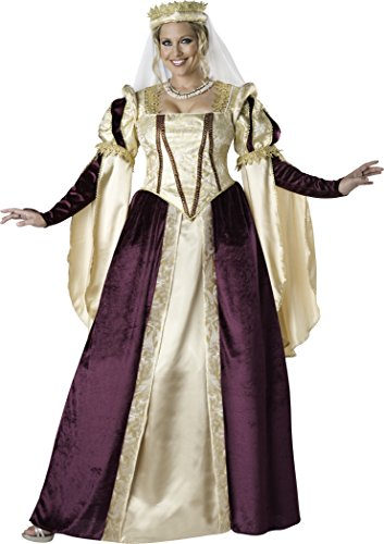 [InCharacter Costumes Women's Plus-Size Renaissance Princess Costume, Gold/Burgundy, XXX-Large] (Medieval Queen Plus Size Costumes)