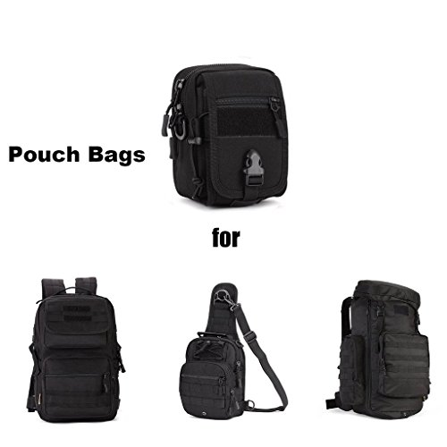 cinmaul Militar Táctica Mini teléfono bolsa cinturón de cintura bolsa Pack Gear Molle bolsa de sillín, hombre, negro negro