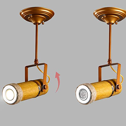 ZJⓇ Spotlight Track Light - Personality Creative Hemp Rope Bamboo Downlight Retro Hotel LED Lamp Long Rod Light - 5 Models - New Chandelier && (Size : 1) by ZJⓇ Spotlight (Image #2)