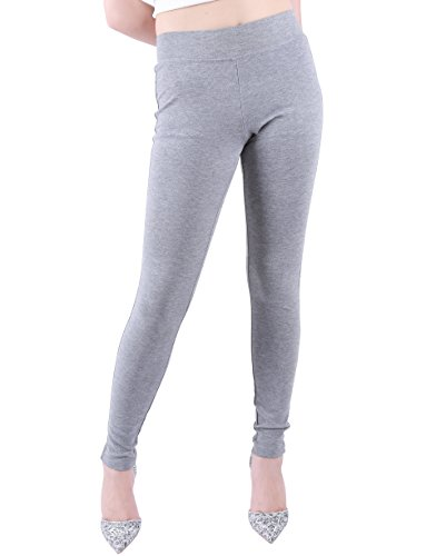 Favelem Stylish Leggings As Pants For Women Skinny Trousers(3X,Grey)1304-9