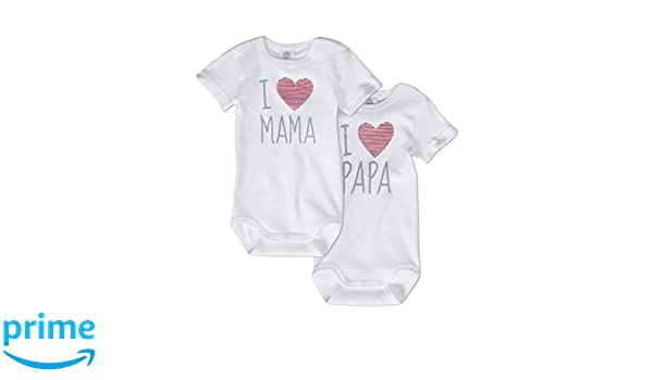 Sanetta &apos Unisex Cuerpo I Love Mum y I Love Daddy - 100 ...