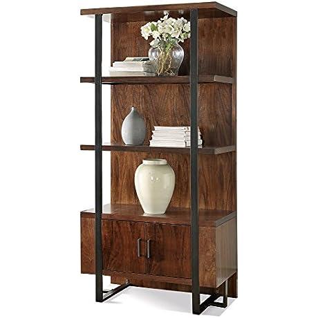 Riverside Terra Vista 3 Shelf Bookcase In Casual Walnut