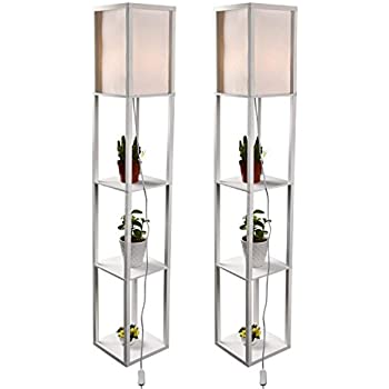 Led Shelf Floor Lamp Dimmable Standing Reading Lamps
