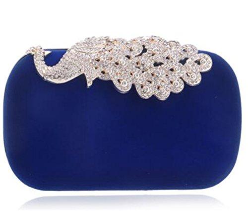 Bridal Wedding Clutch Rhinestones Wedding Handbags Ym1009blue Purse Shoulder Bag For q1xgtwn