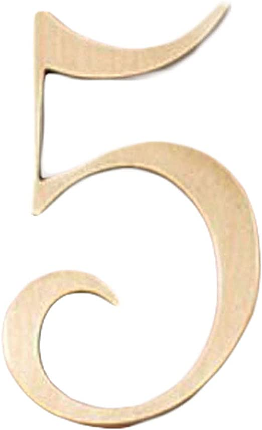 3 HOUSE DOOR Sign BRASS NUMBER Number
