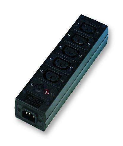 Iec Power Strips - Power Outlet Strip, 5 Outlets, IEC 60320 C13, 15 A, 250 V, IEC 60320 C14