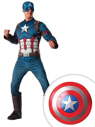 Captain America Costume Kit Adult Standard Muscle Chest with Shield
