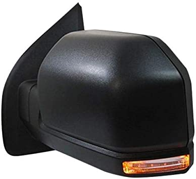 Exterior Power Heated w// Blind Spot Glass Mirror Black LH Side for Ford New