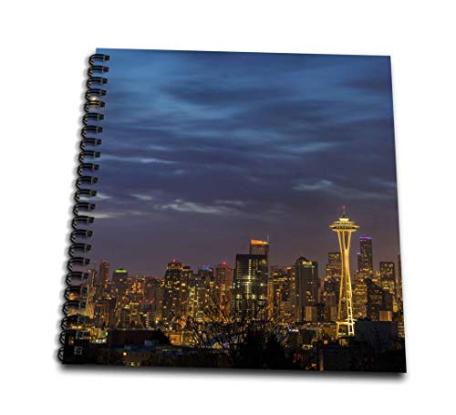 3dRose City Skyline from Kerry Park in Downtown Seattle, Washington, USA Drawing Book, 12 x 12