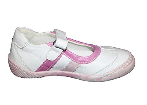 Cherie 220–chaussures ballerines pour fille blanc/rose/rose 24 (sans boîte eU)