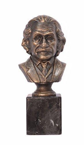 Dekofigur Figur Bronze Optik Albert Einstein Büste Gusseisen Antik Stil H 32,5cm