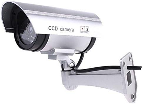 Opinión sobre DeliaWinterfel cámara de Seguridad Premium Falsa/maniquí CCTV con LED Parpadeante luz - Interior y Exterior - Plata by