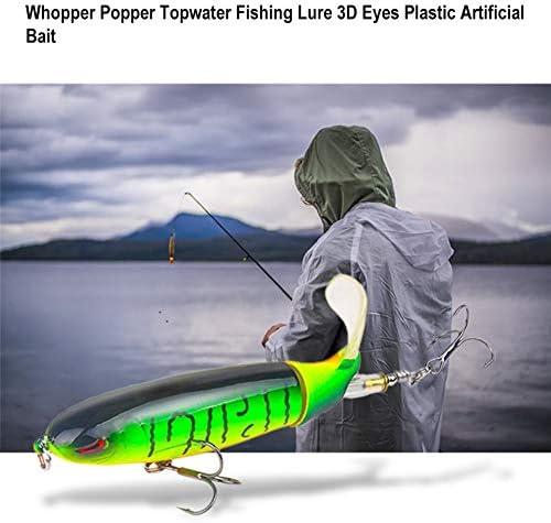 Feketeuki 10 CM 13G Whopper Popper Topwater se/ñuelo de la Pesca Ojos 3D Cebo Artificial Pl/ástico Duro Pesca Gancho Plopper Accesorios de Pesca 1#