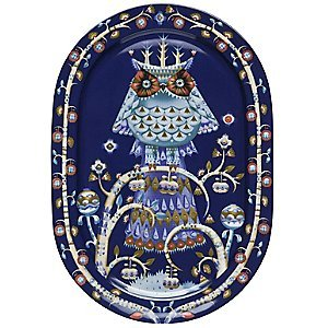 Taika Oval Platter 16'' Color: Blue