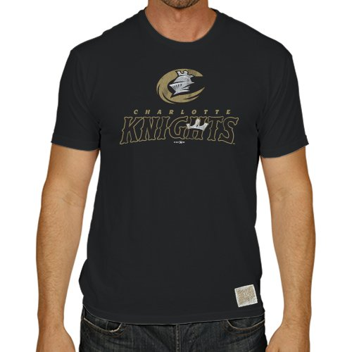 Minor League Baseball Charlotte Knights Men's T-Shirt, Small, (Charlotte Baseball)