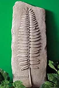 Hand Cast Stone Christmas Fern, Plant - Collectible Wall Plaque - Concrete Sculpture