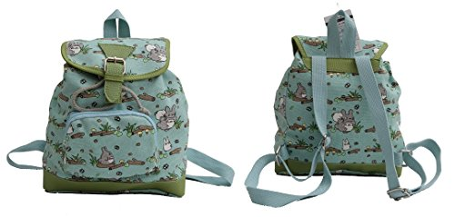 My Neighbor TOTORO Blue Canvas Small Backpack Flap School work Anime 60136 Kawaii