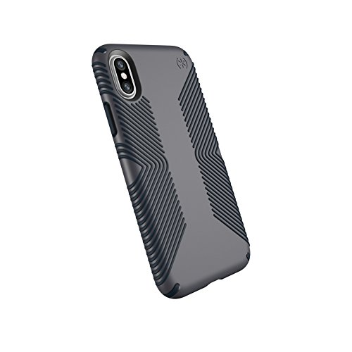 Xs Grip - Speck Products Presidio Grip Case for iPhone XS/iPhone X, Graphite Grey/Charcoal Grey