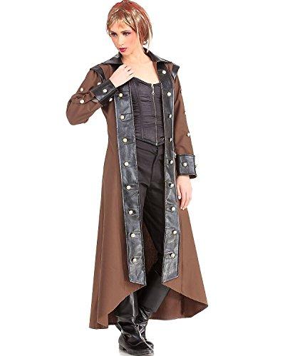 [Lieutenant Estfeld Steampunk Victorian Gothic Womens Costume Trench Coat (X-Large)] (Lieutenant Costumes)