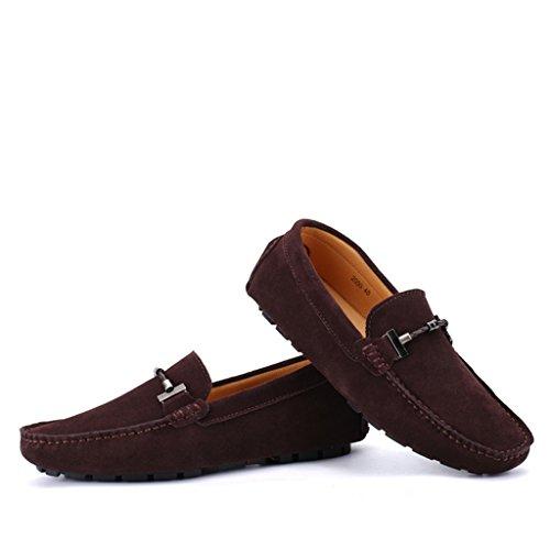 Flache Beiläufig Slippers Schuhe Herren Halbschuhe 1Braun Eagsouni® Loafers Bootsschuhe Wildleder Fahren Mokassins Hausschuh xqzWw6Y1A