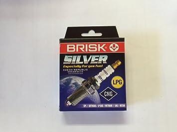 Brisk silver1458 lr12ys Bujía Gasolina LPG CNG Auto Gas, 4 unidades): Amazon.es: Coche y moto