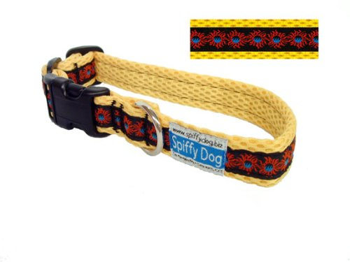 Yellow Sunfire Air Dog Collar Size Small
