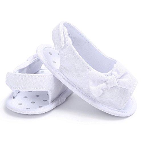 Bebé Prewalker Zapatos Auxma Princesa del bebé Verano Primera Walkers Zapatos Sandalias Zapatos para 0-6 6-12 12-18 meses Blanco