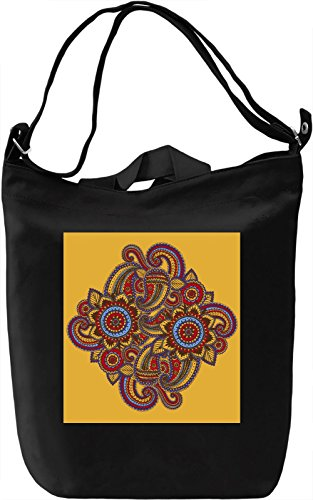 Abstract Flowers Borsa Giornaliera Canvas Canvas Day Bag| 100% Premium Cotton Canvas| DTG Printing|
