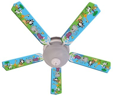 Ceiling Fan Designers Ceiling Fan, Jungle Party Animals, 52'' by Ceiling Fan Designers