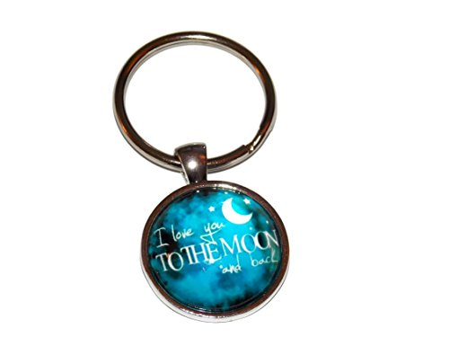 I Love You to the Moon and Back Keychain Key Chain Ring - Key Moon