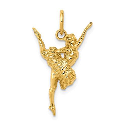 FB Jewels 14K Yellow Gold Ballerina Charm