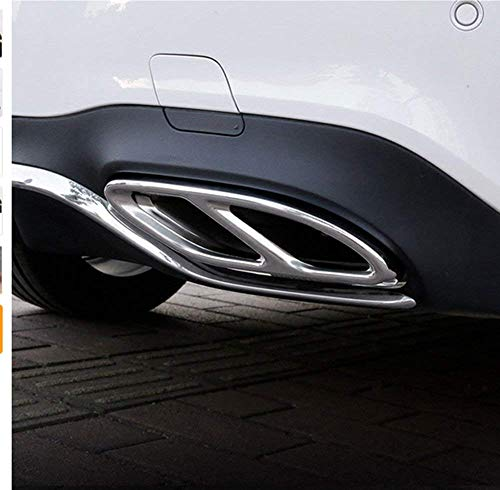 Atb Trim - Autobro stainless steel Pipe Throat Exhaust Outputs Tail Frame Trim Cover for Mercedes Benz