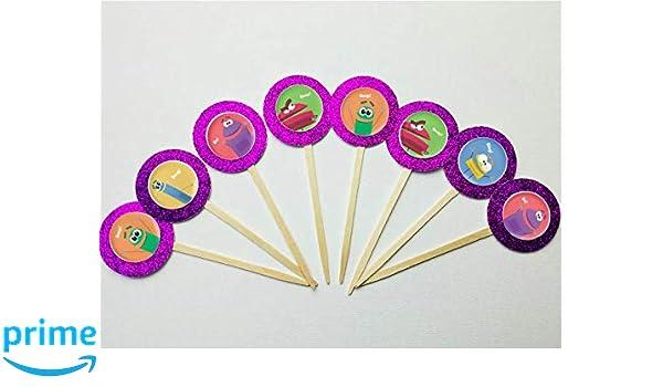 Amazon.com: Set of 12 storybots Cupcake Toppers Birthday ...