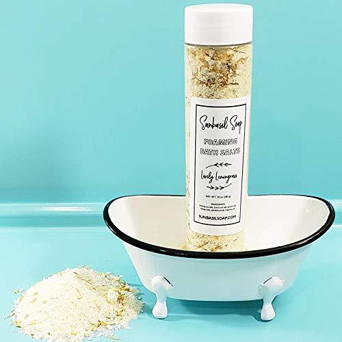 Lemongrass Dead Sea Bath Salts/All Natural Handmade Essential Oil Foot Soak/Relaxation -