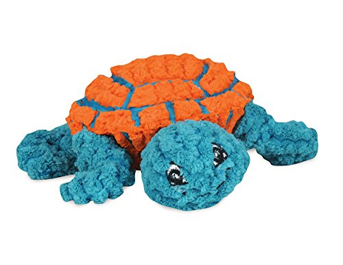 Hugglehounds Ruff-Tex Squeaky Tough Dog Chew Toy All Natural, Turtle, Large