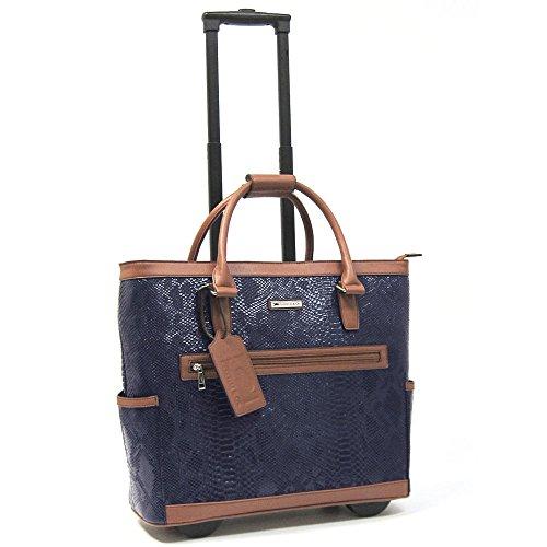 cabrelli-polly-python-15-inch-laptop-bag-on-wheels-briefcase-navy-cognac