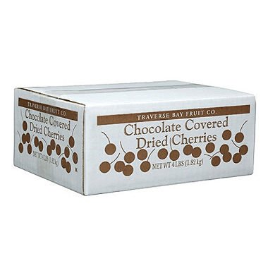 Traverse Bay Fruit Co. Chocolate Covered Dried Cherries, 4-Pound Box