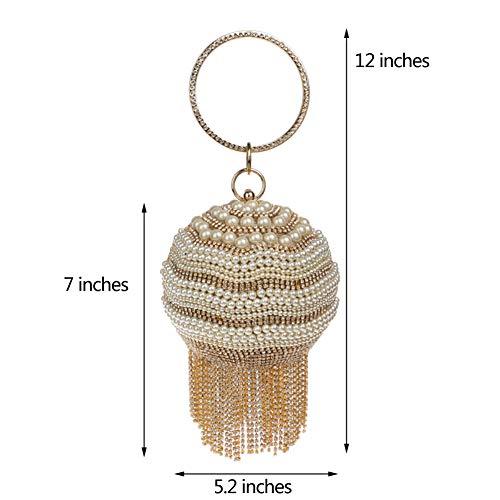 Bourse Maquillage Sac Fête Sac Bandouliere Pochette Mariage Femme pour Bal Main à Chaîne Gold Soiree Clutch Rw16Onq1