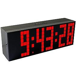 CHkosda Large LED Display Board Digital Snooze Alarm Clock(red LED)