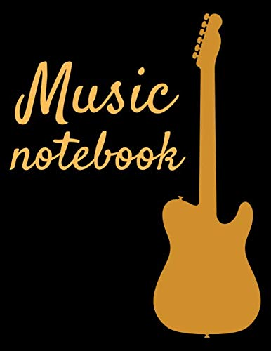 Music notebook: 120 pages wide staff paper manuscript paper (8.5x11), 8 staves per page (easy to write on); for musicians, learning